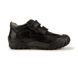 Froddo Black Leather School Shoes