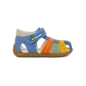Pablosky anatomic sandals for toddler boys in denim blue