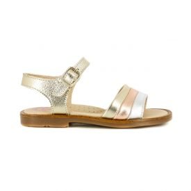 Pablosky girls gold leather sandals
