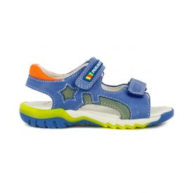 Pablosky boys open toe leather sandals in bright blue
