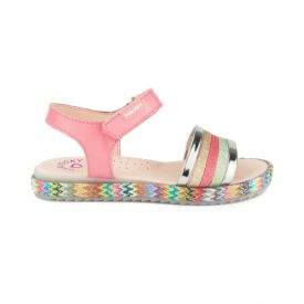 Pablosky girls pink patent leather sandals.