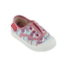 Victoria Girls' Unicorn Slip-ons