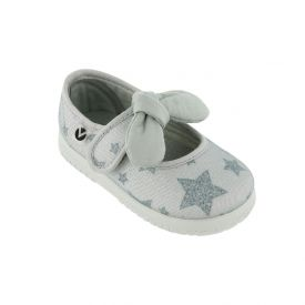 Victoria Lurex Mary Janes with Bow